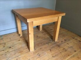side table 67cm square 56cm high ( 2 available @ £25.00 each)