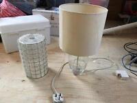 Glass lamp and lamp shade