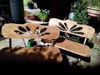 Mahogany garden benches