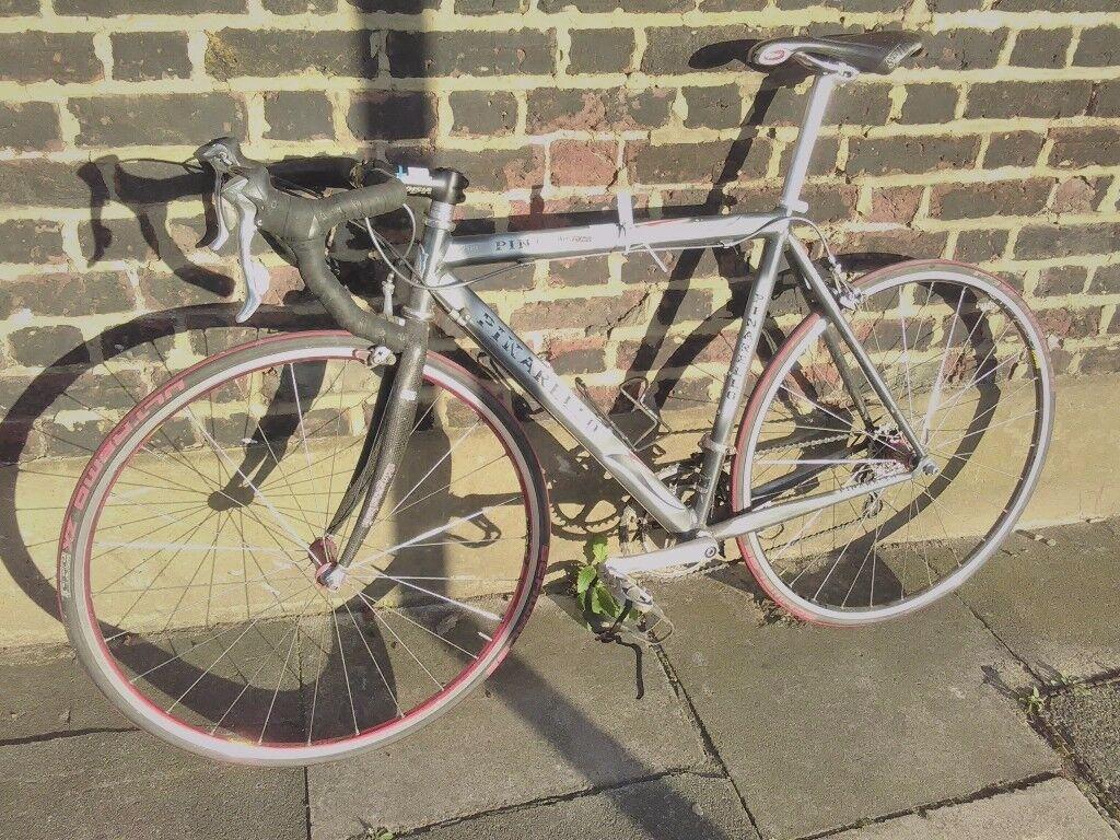 Vintage pinarello Paris vires 7001 Dura ace 9 gearset size 54cm frame road bike racer tour de france