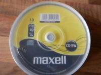 MAXELL BLANK REWRITABLE CD DISCS (PACKS OF 10 DISCS) X4