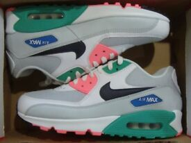 GENUINE BRAND NEW WITH BOX MENS SIZE 9 NIKE AIR MAX 90 TRAINERS SHOES  WATERMELON AJ1285 d4bebf76b