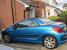 Converable Peugeot 207 - Blue - 2007: 2 door - 4 seater