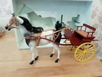 Vintage Sindy Horse and Gig