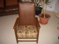 Vintage Oak Framed Chair