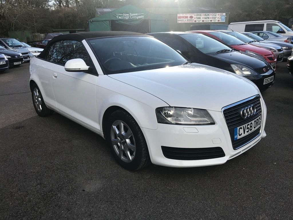 audi a3 cabriolet 1 9 tdi cabriolet 2dr white 2008 in. Black Bedroom Furniture Sets. Home Design Ideas