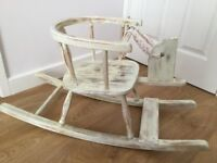 Shabby chic restored 50 year old children's rocker