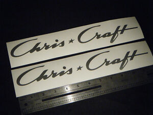 Chris Craft Boats Silver Decal 12