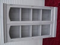 shabby/chic book cabinet french grey heavy old oak and pine frame for sale  Diss, Norfolk