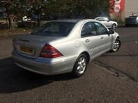 Mercedes C-Class C200 Elegance , 80K low miles Petrol, 5 Door, Automatic, Silver with mot histroy