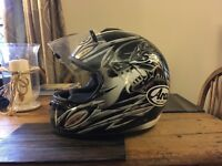 Arai chaser motorbike crash helmet xs