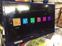 Logik 24 Inch TV DVD Player Combi L24HEDN14 LCD LED HDMI VGA AV USB Media Player Blue White