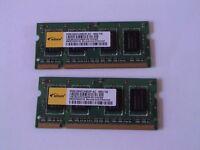 2 x 1gig DDR2 laptop ram