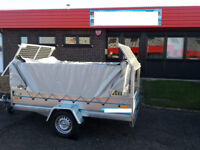 NEW SINGLE AXLE CAGE TRAILER 8,6 FT X 4,4 FT - 750KG + FULL COVER