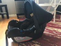 Kiddicare group 0 plus baby car seat for sale.