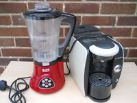 JDW blender/soup maker and Bosch tassimo coffee machine