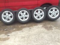 """2008 E class 16"""" Mercedes Alloy Wheels, with Tyres, in Excellent Condition"""