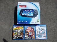 PSVita 3G & WiFi , 3 games and 4GB memory card, boxed icluded with everything