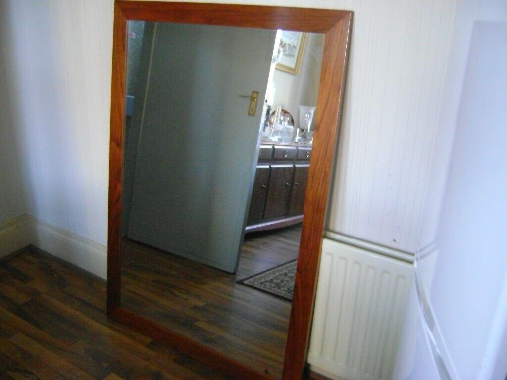 BEAUTIFUL CHERRY WOOD FRAMED MIRROR | in Castlereagh ...