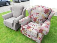 2 Wing Back Armchairs
