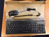 New HP USB keyboard & mouse bundle x6