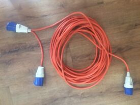 20 metre Caravan Motorhome Extension Hook Up Cable Lead with double socket