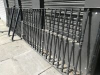 solid iron railing