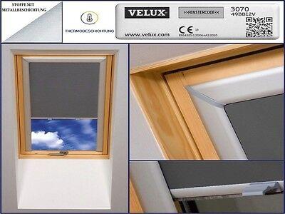 Dachfensterrollo für Velux  GGL,GPL,GHL,GDL,GEL,GTL,GXL 100% Thermo Verdunkelung