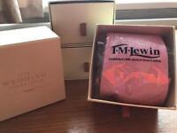 Pink Silk Paisley Ties x 3