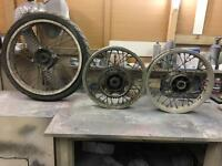 Honda Transalp wheels and hubs