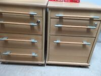 Beech effect drawer units