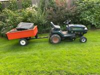 Garden Tractor / Ride On Mower and Trailer