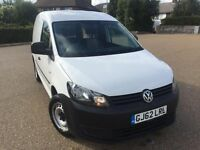 VW Caddy 1.6 TDI BMT Diesel Panel Van *34k Low Mile, FSH, HPI CLR, Genuine 2012 White VAT*