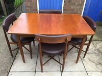 G PLAN Mid Century TEAK DINING TABLE and 4 CHAIRS