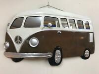 VW metal wall art and mirror