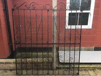 Large Single steel iron garden gate