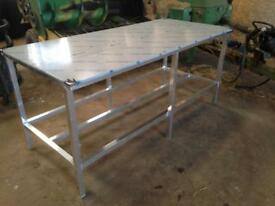 Butchers stainless steel table