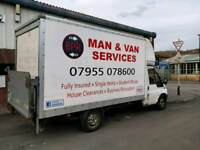 Man and Van,single items from £25 cheap removals services,south yorkshire