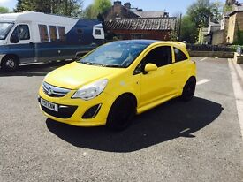 2015 Vauxhall corsa 1.2 limited edition yellow 27k fvsh 1 owner vxr replica mint car cheapest in U.K