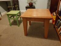 TWO SIDE / COFFEE / BEDSIDE TABLES (ONE LARGE, ONE SMALL) FOR SALE, £28 AND £8 EACH, £32 FOR BOTH