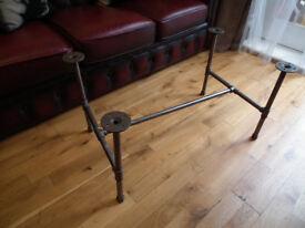 DIY steel pipe coffee table base 21mm pipe industrial