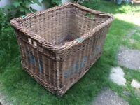 Vintage industrial Very Large Laundry Basket !!