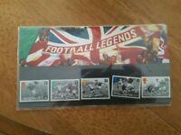 Football Legends stamp presentation set