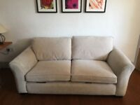 DFS cream two seater sofa