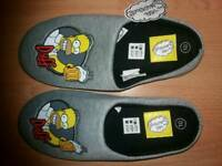 Brand New Simpson Slippers men's size 10