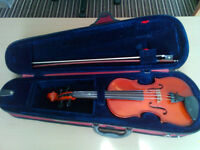 1/2 Size Violin with Bow, Case, and Rosin