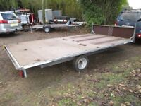 GALVANISED 14 X 7-6 FLATBED 1500KG BRAKED TRAILER WITH HEADBOARD.........