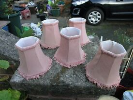 5 Small Pink lamp Shades Weymouth