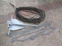 anchor 4.5 kg+rope+4.5mtres sailing boat fishing boat large power boat rib etc.