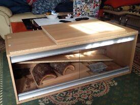 4ft viv exotic vivarium with cabinet